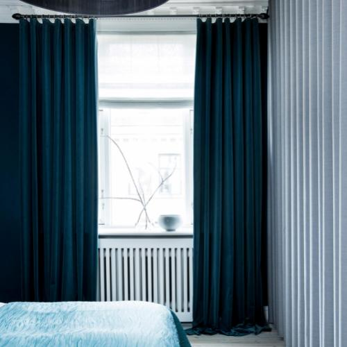 Tidsmæssigt Midnight Blue | Gardiner og accessories i elegante blå toner NM-27